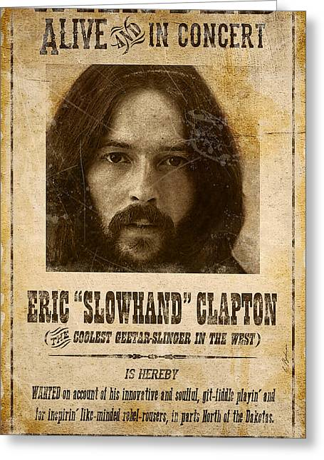Clapton Wanted Poster Greeting Card