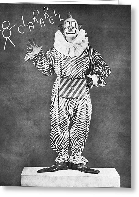 Clarabell The Clown Greeting Card by Underwood Archives