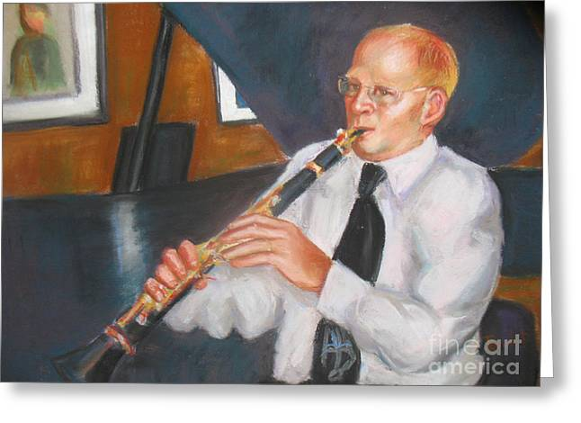 Clarinet At Palm Court Greeting Card