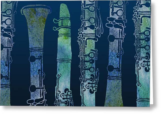 Clarinet Blues Greeting Card