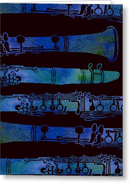 Clarinet Keys Greeting Card by Jenny Armitage