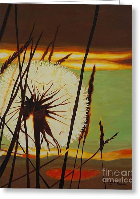 Greeting Card featuring the painting Clarity Of Light by Janet McDonald