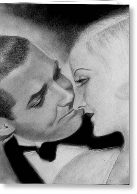 Clark Gable And  Carole Lombard Greeting Card