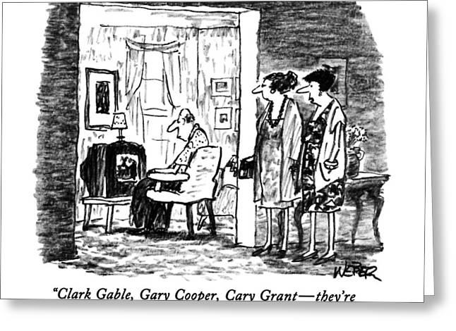 Clark Gable Greeting Card by Robert Weber