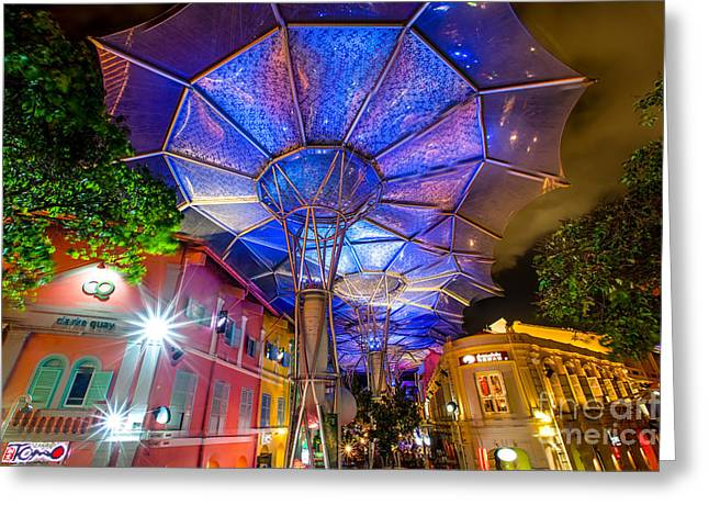Clarke Quay On Steriods Greeting Card