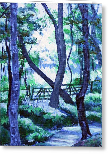Clarksville Greenway 2 Greeting Card by Janet Felts