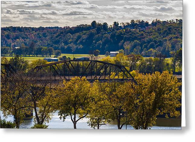 Clarksville Railroad Bridge Greeting Card