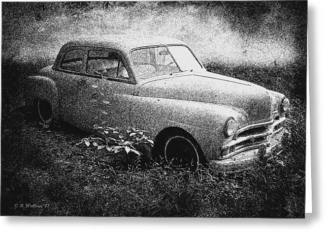 Clasic Car - Pen And Ink Effect Greeting Card by Brian Wallace