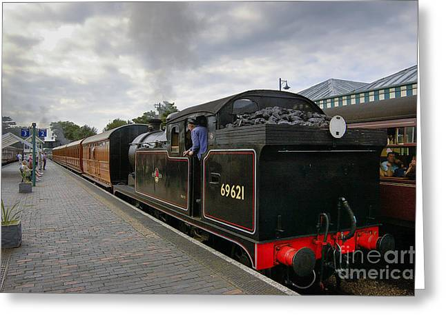 Class N7 0 6 0 2t 69621 Tank Locomotive Greeting Card by Simon Pocklington