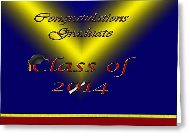 Class Of 2014 Card Greeting Card