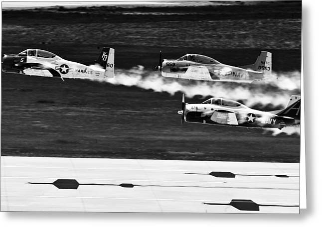 Classic Airpower Greeting Card by Mountain Dreams