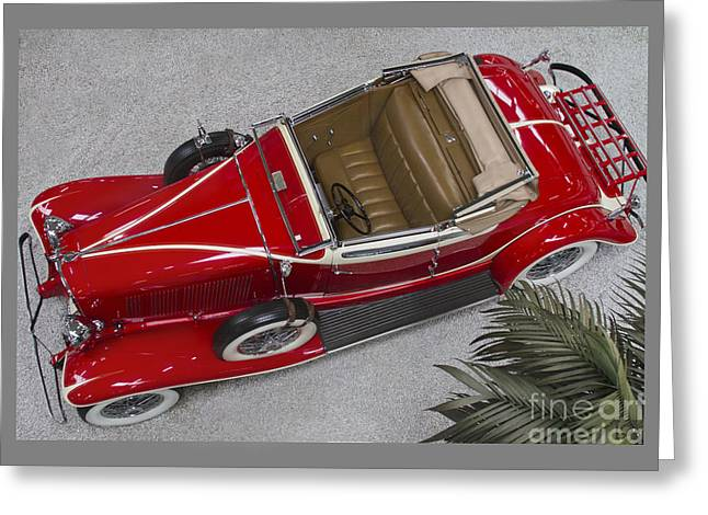 Classic Auburn Convertible Coupe Greeting Card by Heiko Koehrer-Wagner