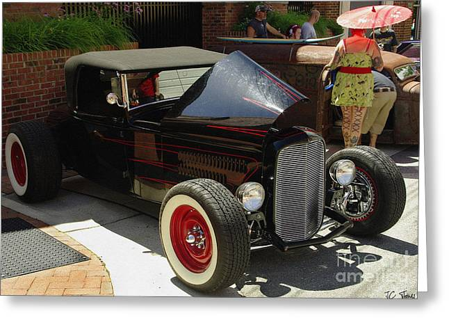 Classic Auto Show Greeting Card by James C Thomas