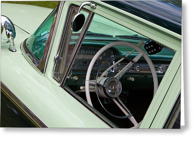 Classic Automobile Interior Greeting Card by Mick Flynn