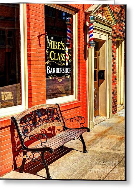 Classic Barbershop Greeting Card by Mel Steinhauer