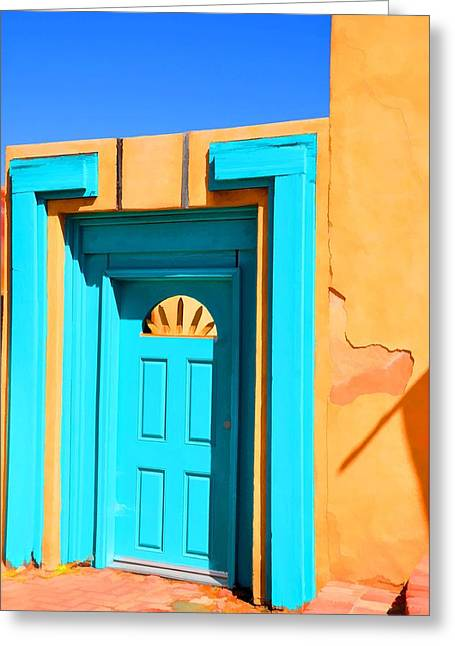 Classic Blues Greeting Card by Jan Amiss Photography