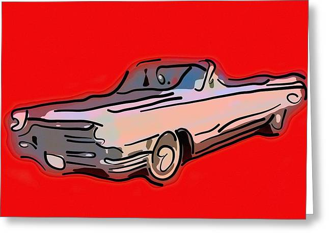 Classic Cadillac Car  Greeting Card
