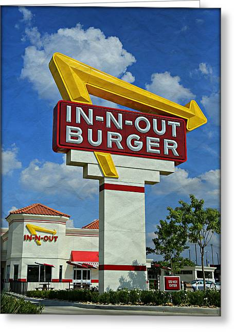 Classic Cali Burger 1.1 Greeting Card by Stephen Stookey