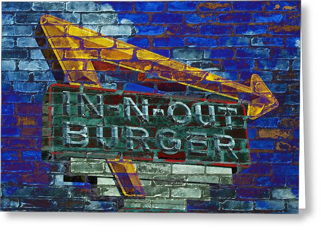 Classic Cali Burger 2.2 Greeting Card by Stephen Stookey