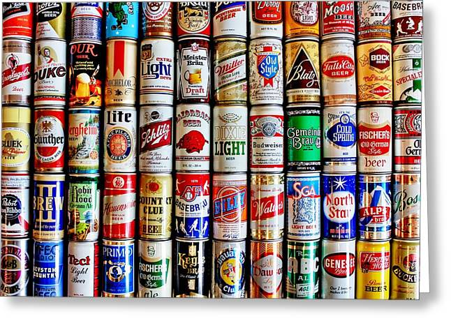 Classic Cans Greeting Card by Benjamin Yeager