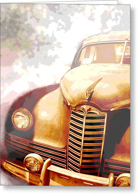 Classic Car 1940s Packard  Greeting Card by Ann Powell