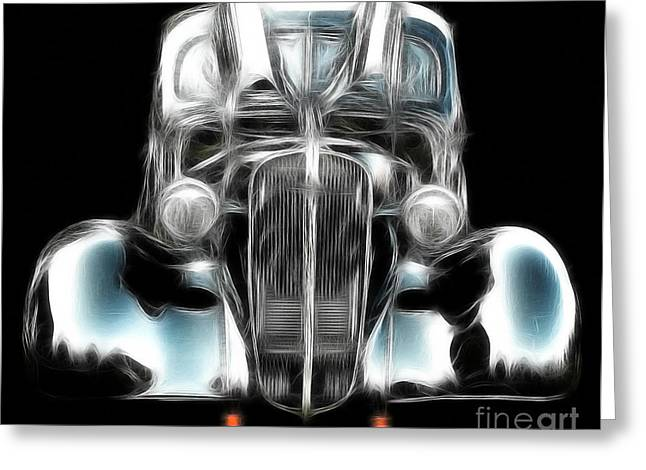 Greeting Card featuring the photograph Classic Car Abstract by JRP Photography