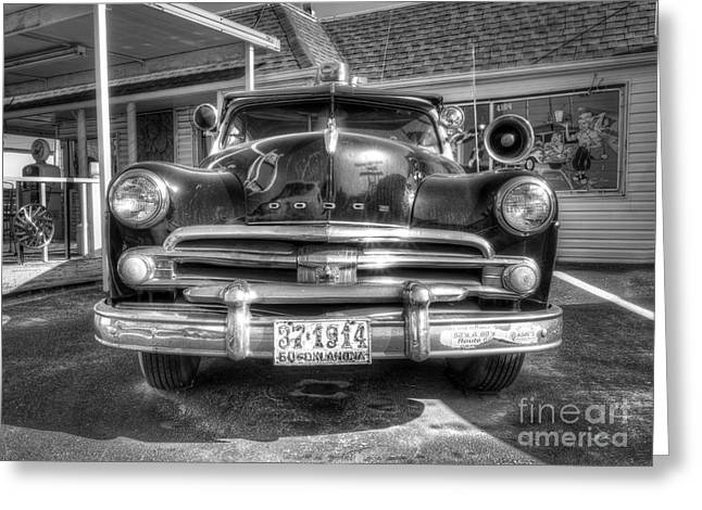 Classic Car Along Route 66 Greeting Card