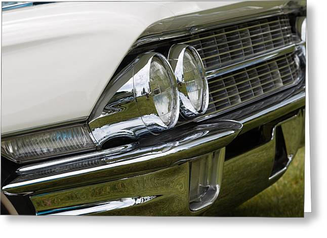 Classic Car Front Wing And Lights Greeting Card by Mick Flynn