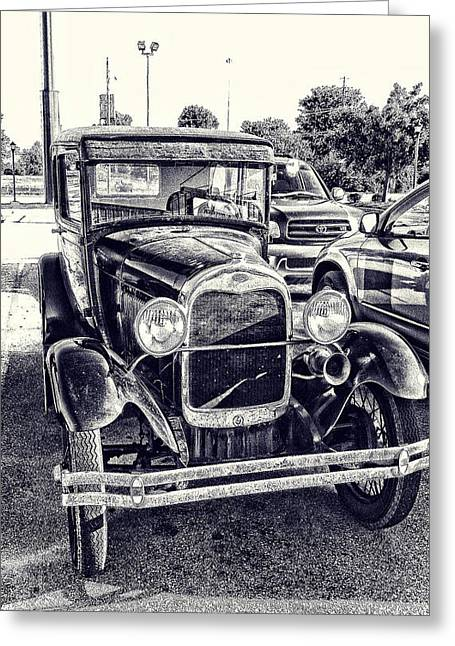 Classic Car Greeting Card by Gerry Robins