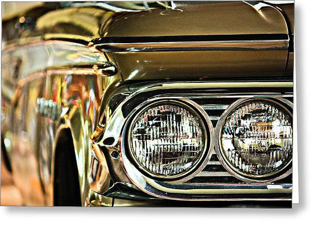 Classic Car Greeting Card by Tammy Schneider