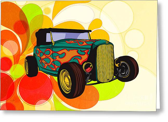 Classic Cars 09 Greeting Card by Bedros Awak