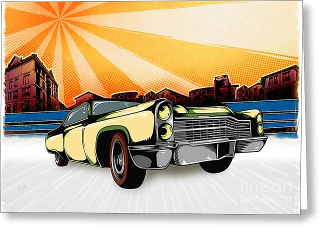 Classic Cars 10 Greeting Card by Bedros Awak