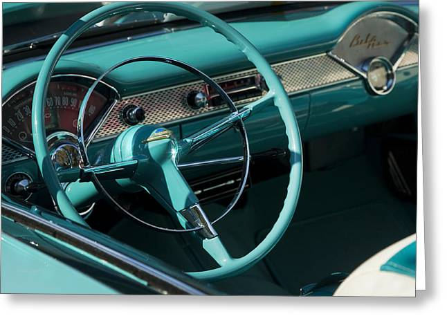 Classic Chevrolet Bel Air Greeting Card by Theresa Tahara