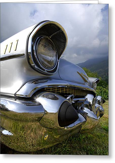 Classic Chevrolet Greeting Card by Debra and Dave Vanderlaan