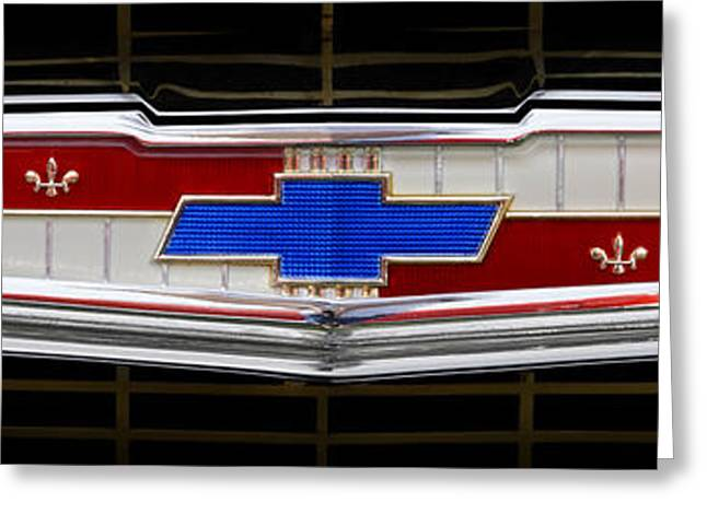 Classic Chevrolet Emblem Greeting Card by Mike McGlothlen