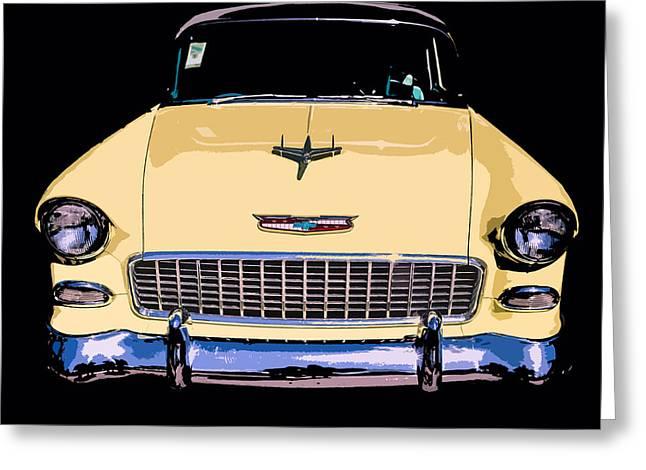 Classic Chevy Pop Art Greeting Card by Edward Fielding