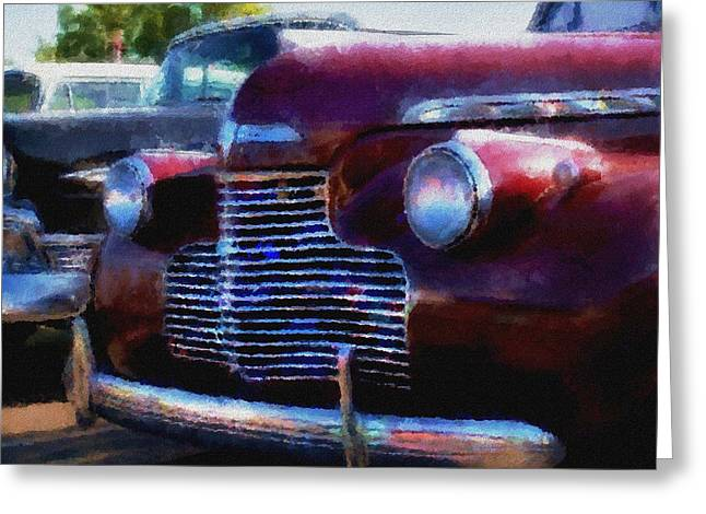 Classic Chevy Water Color Greeting Card