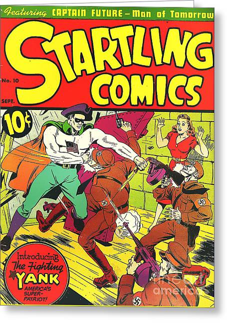 Classic Comic Book Cover - Startling Comics The Fighting Yank - 1236 Greeting Card by Wingsdomain Art and Photography