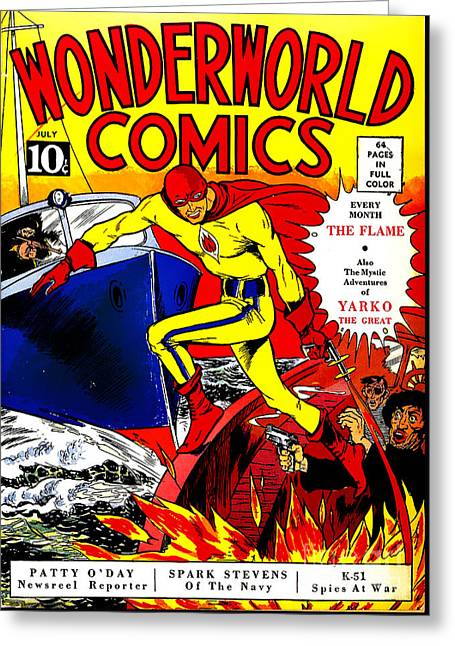 Old Comic Book Cover Texture : Classic comic book cover wonderworld comics the flame