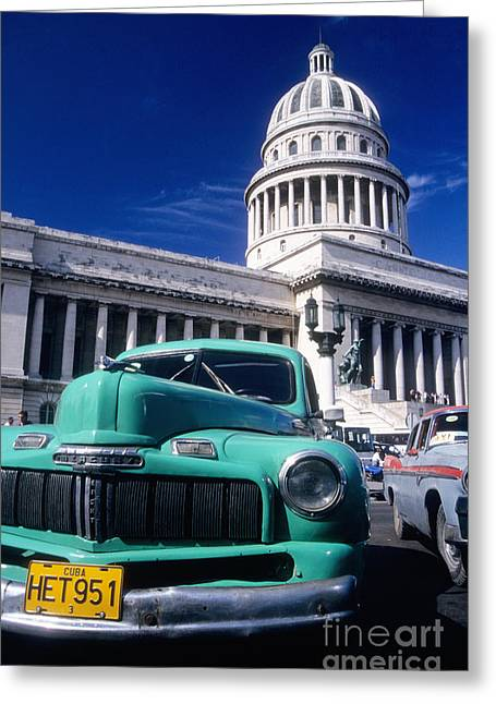 Classic Cuba Greeting Card by James Brunker