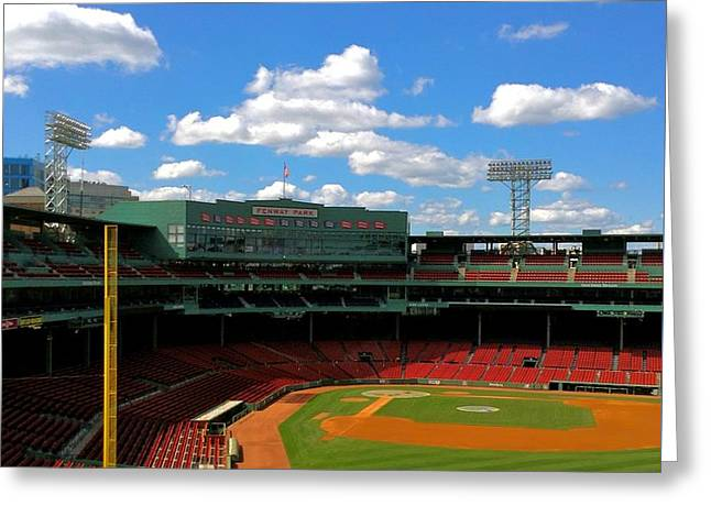 Classic Fenway I  Fenway Park Greeting Card by Iconic Images Art Gallery David Pucciarelli