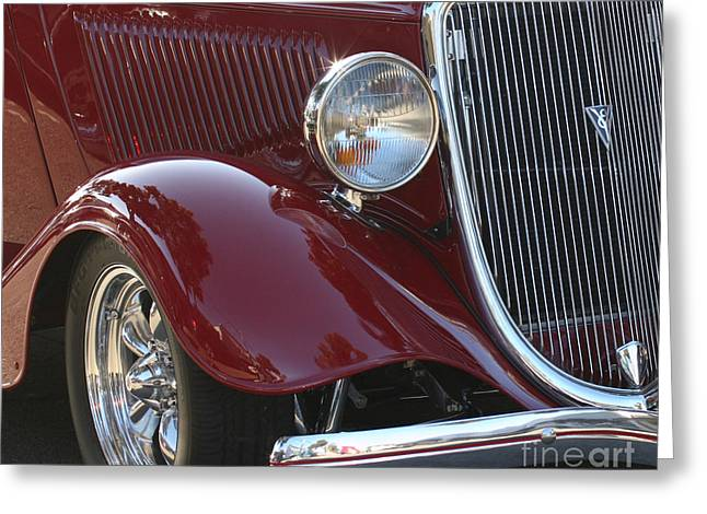Classic Ford Car Greeting Card by Tap On Photo