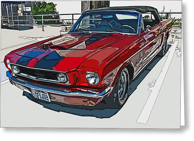 Classic Ford Mustang Convertible Greeting Card by Samuel Sheats