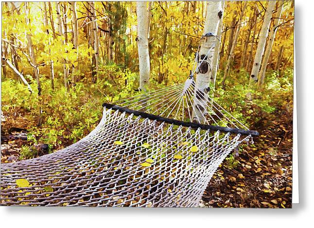 Classic Hammock Invites Visitors Greeting Card by Marion Owen