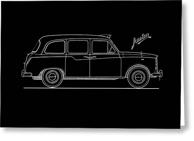 Classic London Taxi Phone Case Greeting Card by Mark Rogan