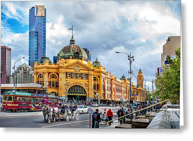 Classic Melbourne Greeting Card by Az Jackson