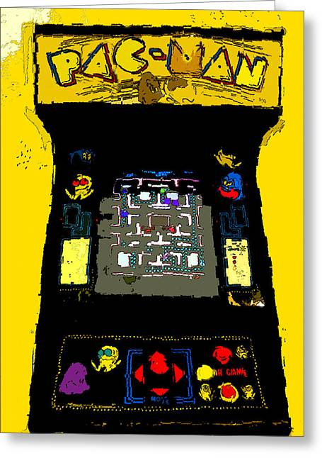 Classic Pacman Greeting Card by David Lee Thompson