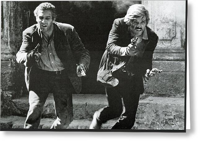 Classic Photo Of Butch Cassidy And The Sundance Kid Greeting Card