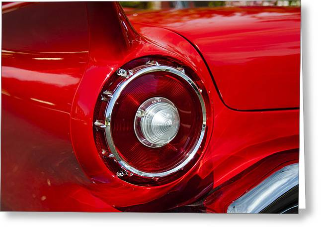 Greeting Card featuring the photograph 1957 Ford Thunderbird Classic Car  by Jerry Cowart
