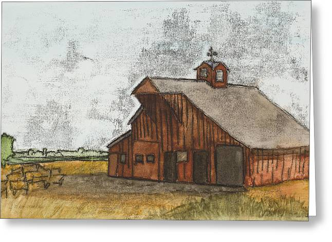 Classic Red Barn Greeting Card by Hailey Jackson